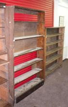An oak bookcase, 156cm wide and another bookcase