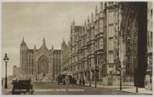 Tuck postcards photogravure series, The Houses of Parliament (10/12), Tucks RP, Coronation Review (6), Westminster Abbey (6), four other sets and a quantity of modern sets