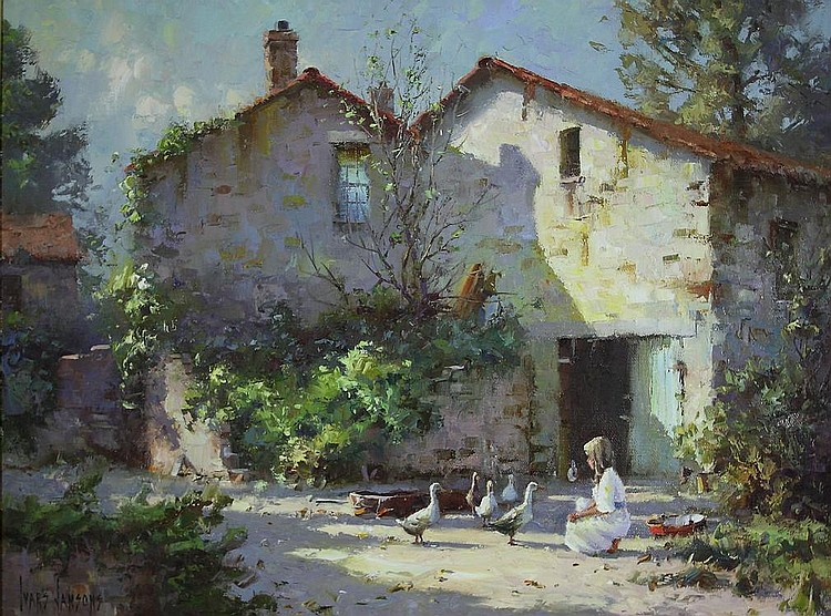 § Ivars Jansons FARM AT BOUSSOULET, FRANCE signed