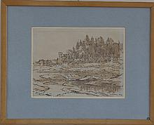 Gerald Ososki/Sirmione 1964/inscribed and dated