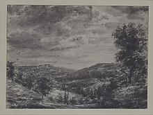 Gerald Ososki/Hilly Landscape/signed and dated G.
