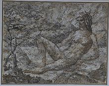 Gerald Ososki/Nude in a Landscape/signed and dated