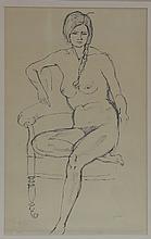 Gerald Ososki/Seated Nude/signed Gerald Ososki