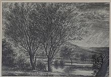 Gerald Ososki/Buckinghamshire River Scene/signed