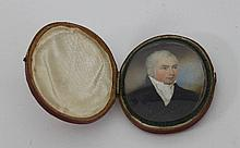 English School, circa 1810/Miniature Portrait of a