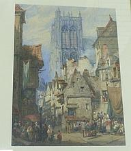 S Prout/Continental Street Scene with