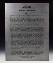 Aviation Hall of Fame Award Given to Neil Armstrong