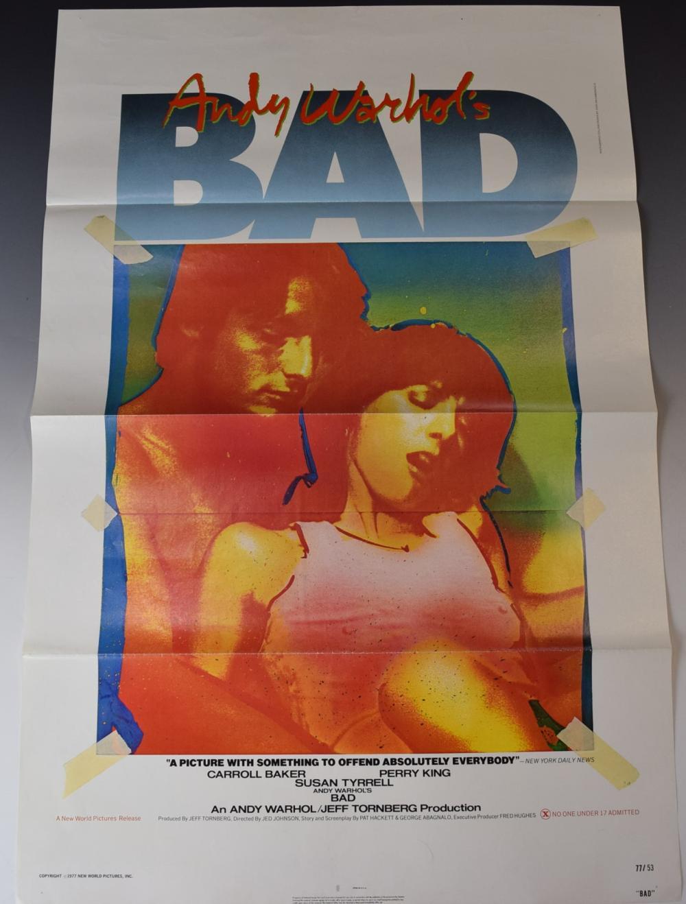 Lot - Vintage Andy Warhol Movie Poster