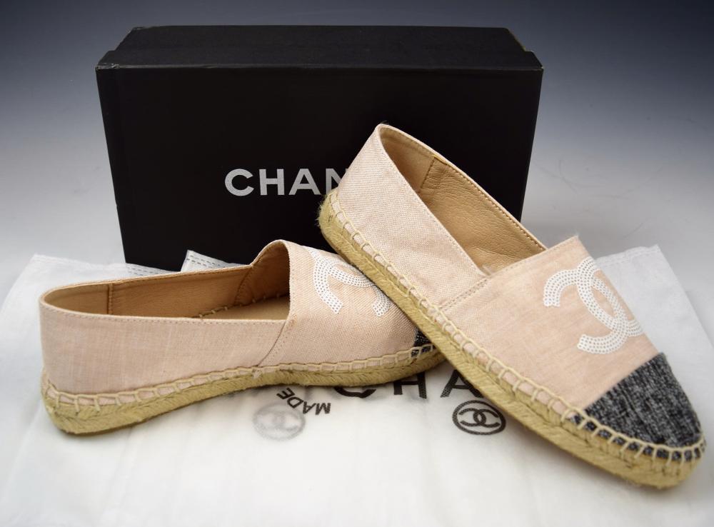 Chanel Canvas Espadrilles Sandals