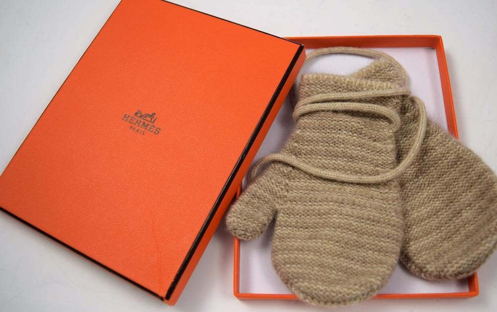 Hermes Baby Mittens