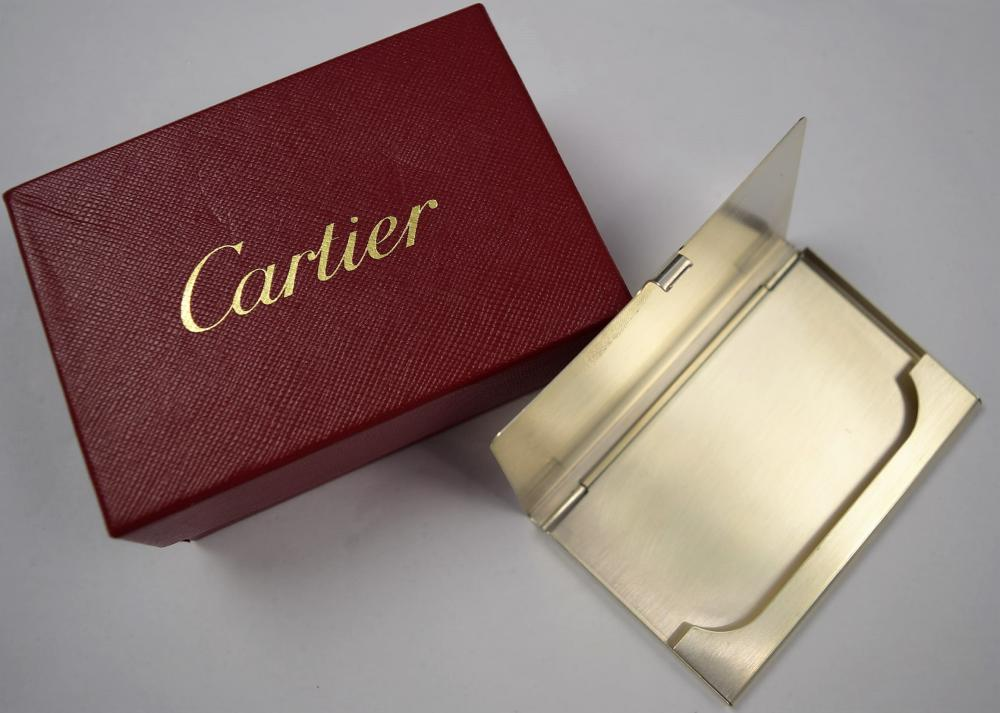 Cartier Sterling Silver Card Case