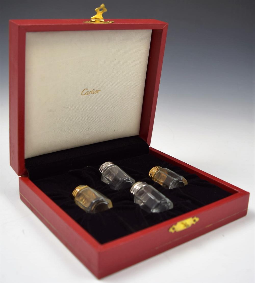 Cartier Salt and Pepper Silver Set