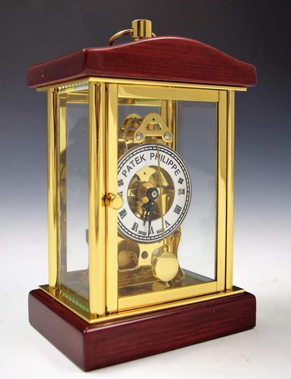 Patek Philippe Gold Skeleton Clock