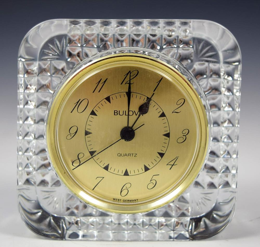 Bulova Crystal Clock