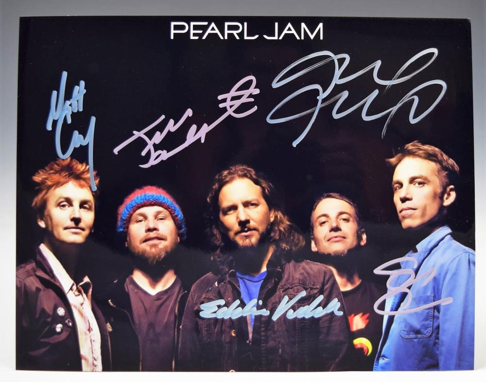 Pearl Jam Band Signed Photograph