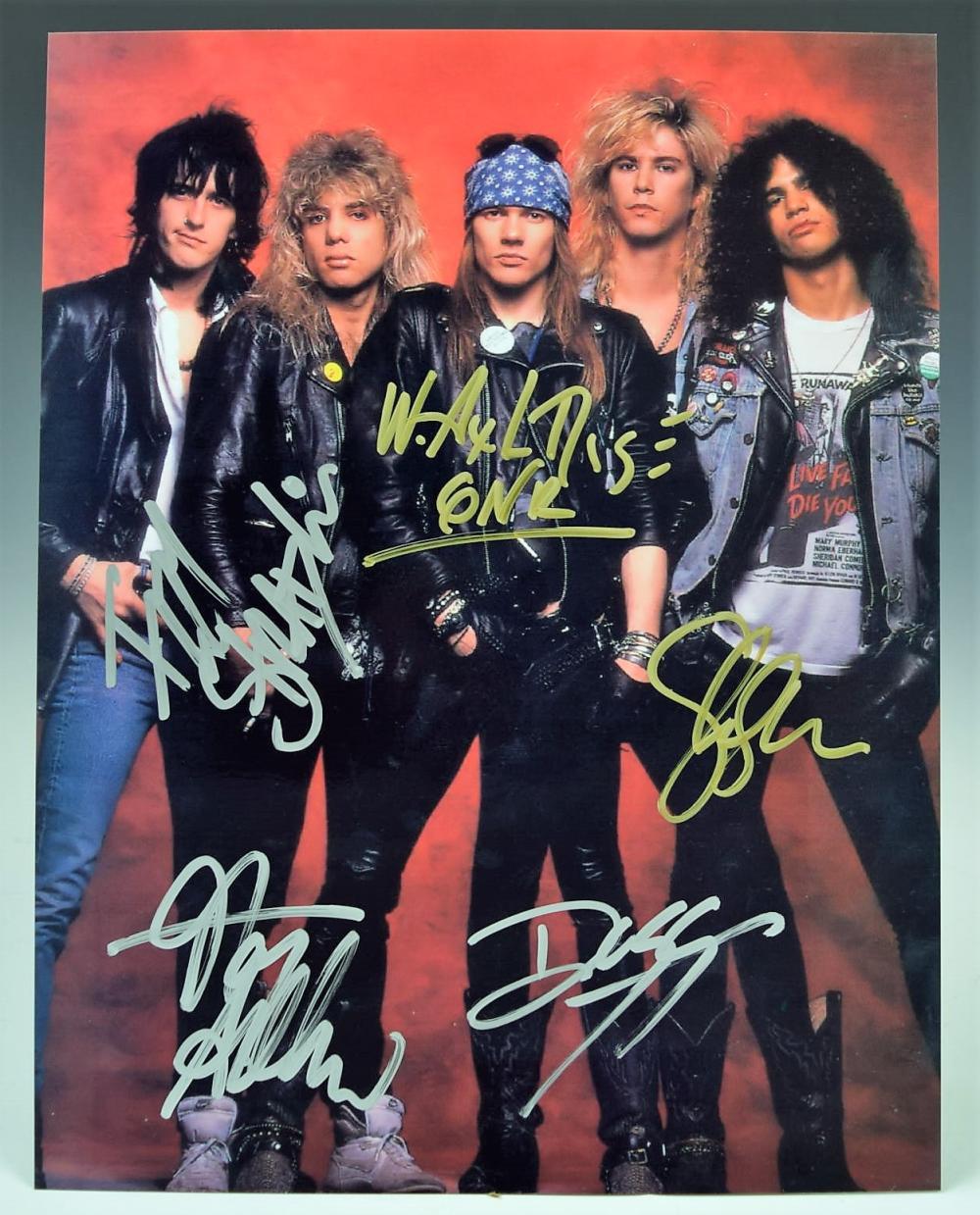 Guns N' Roses Band Signed Photograph