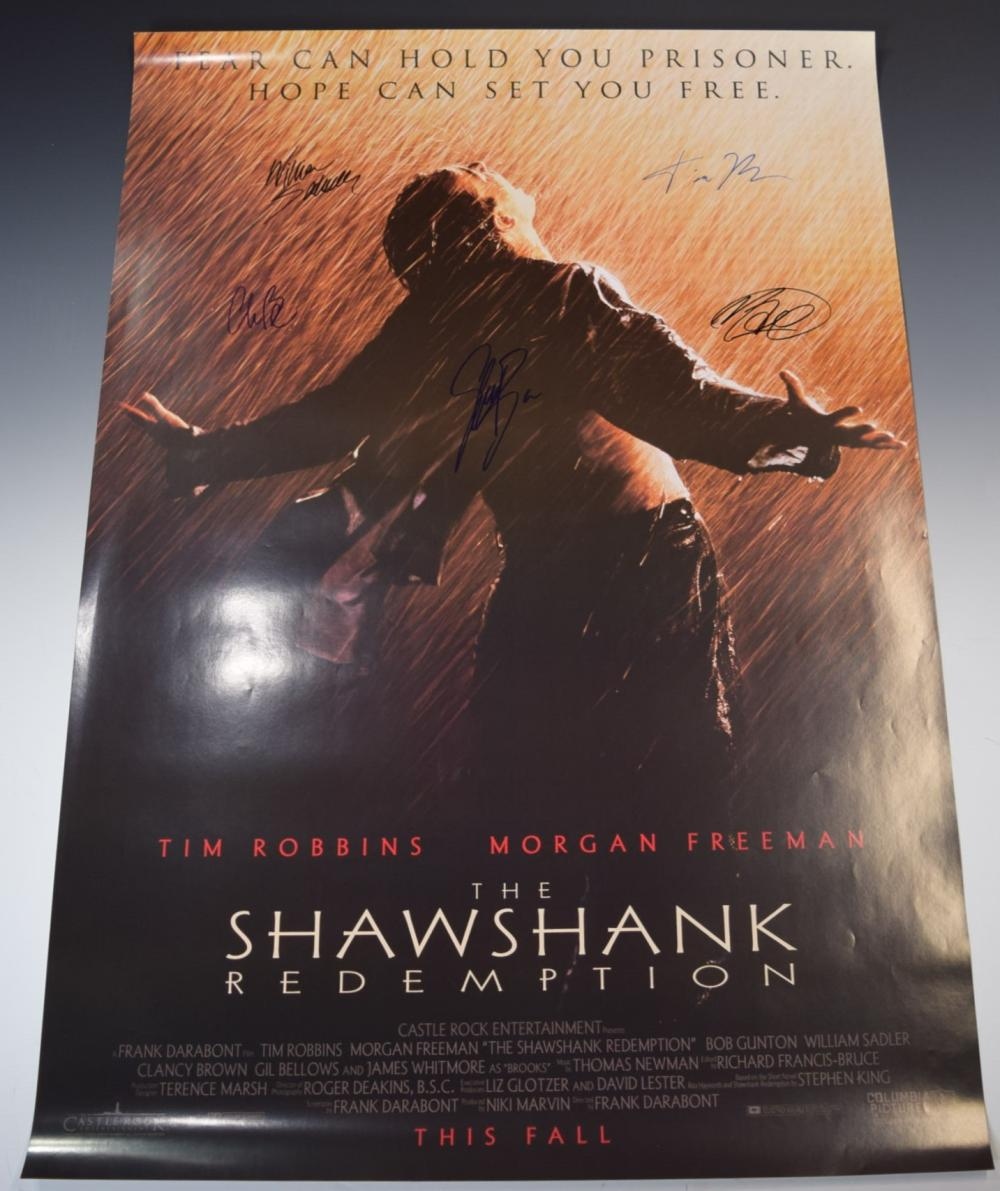 The Shawshank Redemption Signed Movie Poster