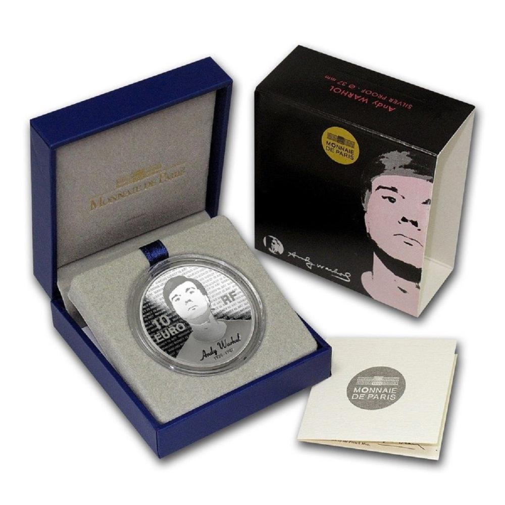 Andy Warhol Silver Coin