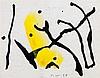 Theodor Werner. Komposition mit Gelb. Aquarell und Tusche. 1954. 12,0, Theodor Werner, €400