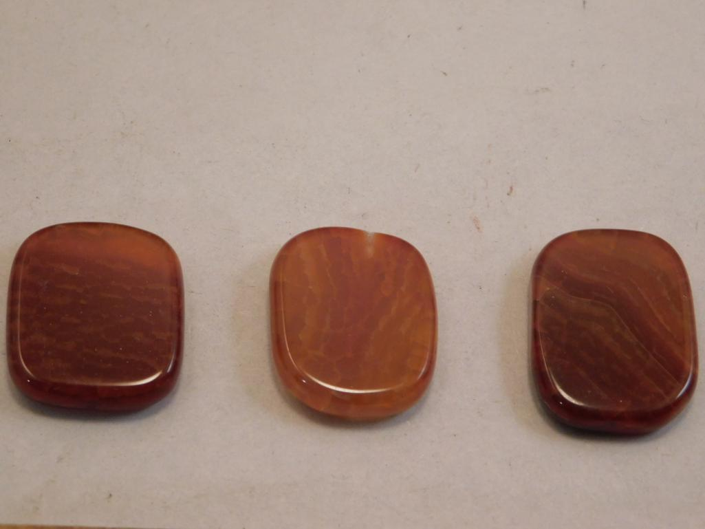 FIRE AGATE POLISHED 3 PIECES