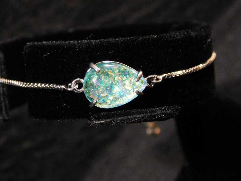 GEMSTONE BRACELET WITH SLIDE
