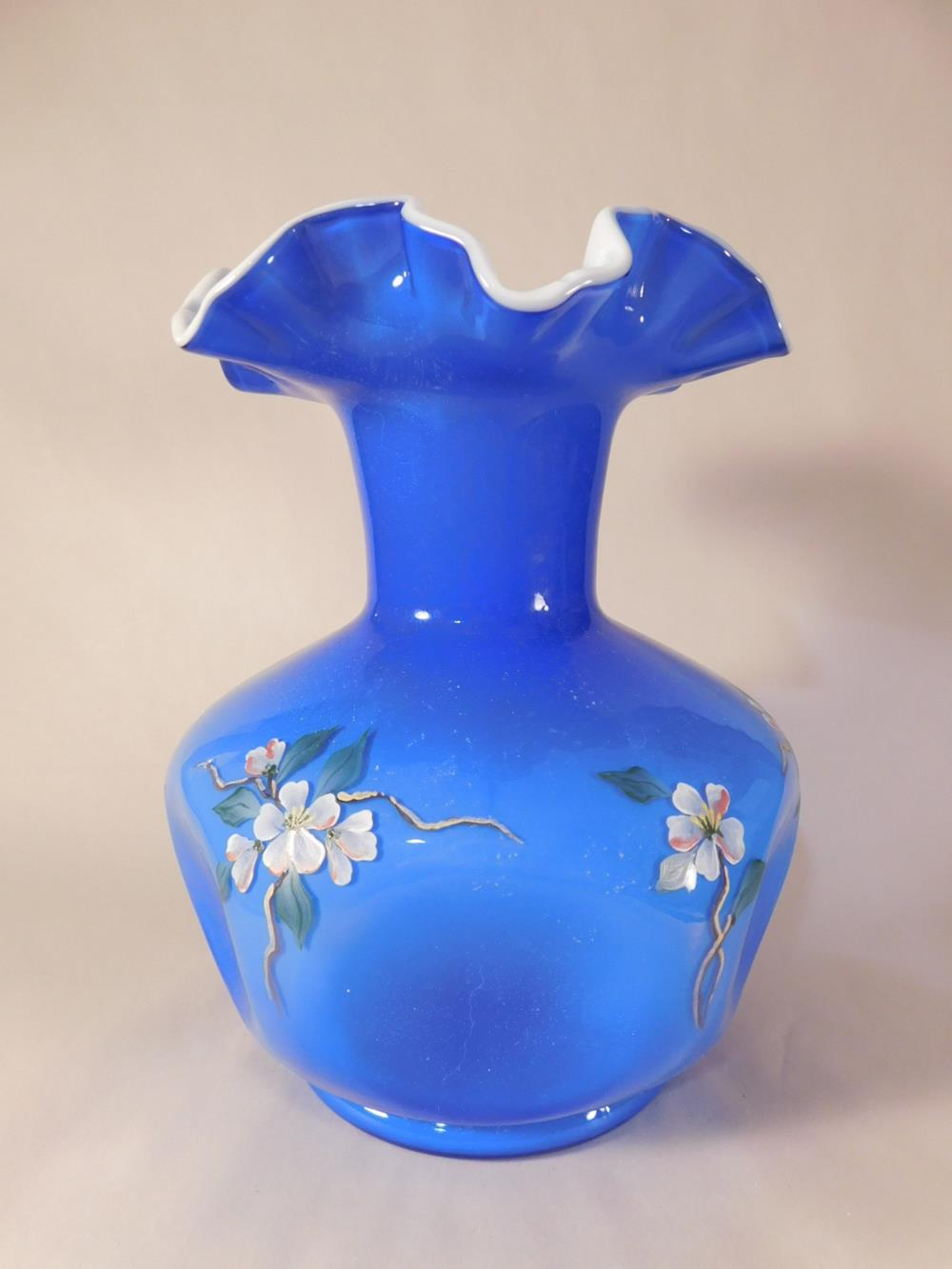 Fenton Art Glass USA Hand Painted and Signed See Photo