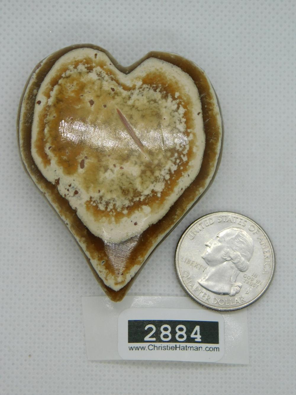 RIBBON BANDED JASPER HEART ROCK STONE LAPIDARY SPECIMEN