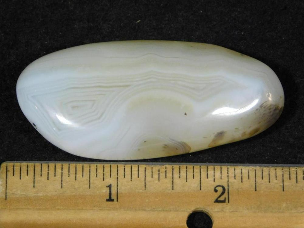 BANDED AGATE GALLET ROCK STONE LAPIDARY SPECIMEN