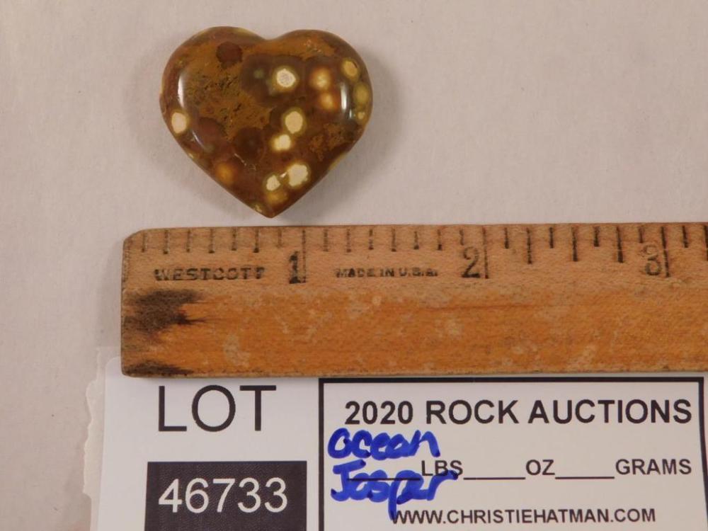 OCEAN JASPER HEART ROCK STONE LAPIDARY SPECIMEN