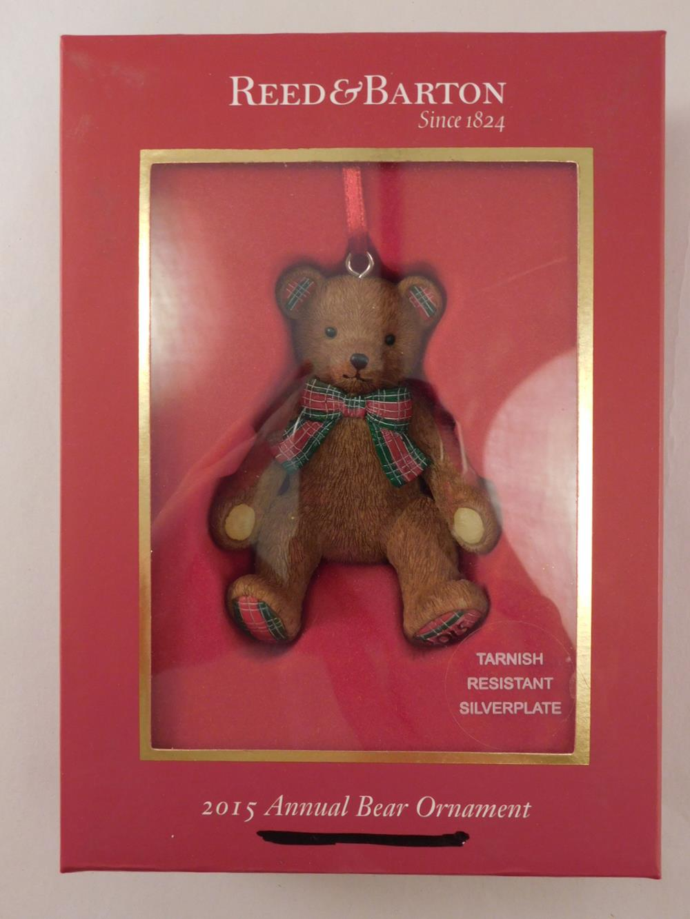 REED AND BARTON 2015 ANNUAL BEAR ORNAMENT