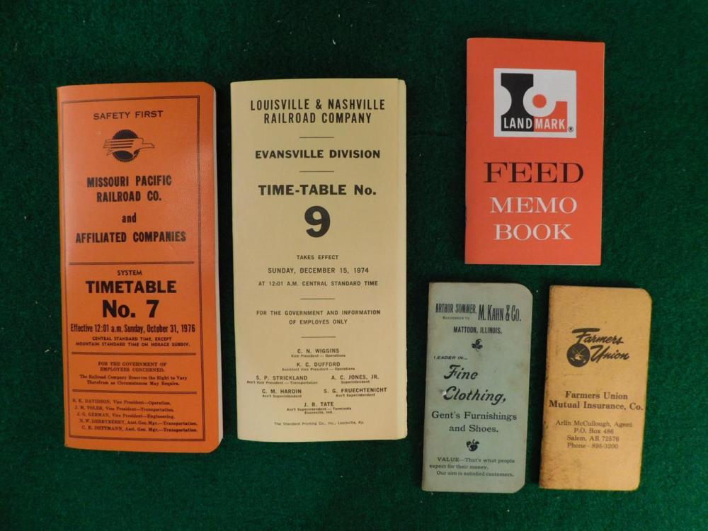 EPHEMERA VINTAGE FEED AGRICULTURE RAILROAD