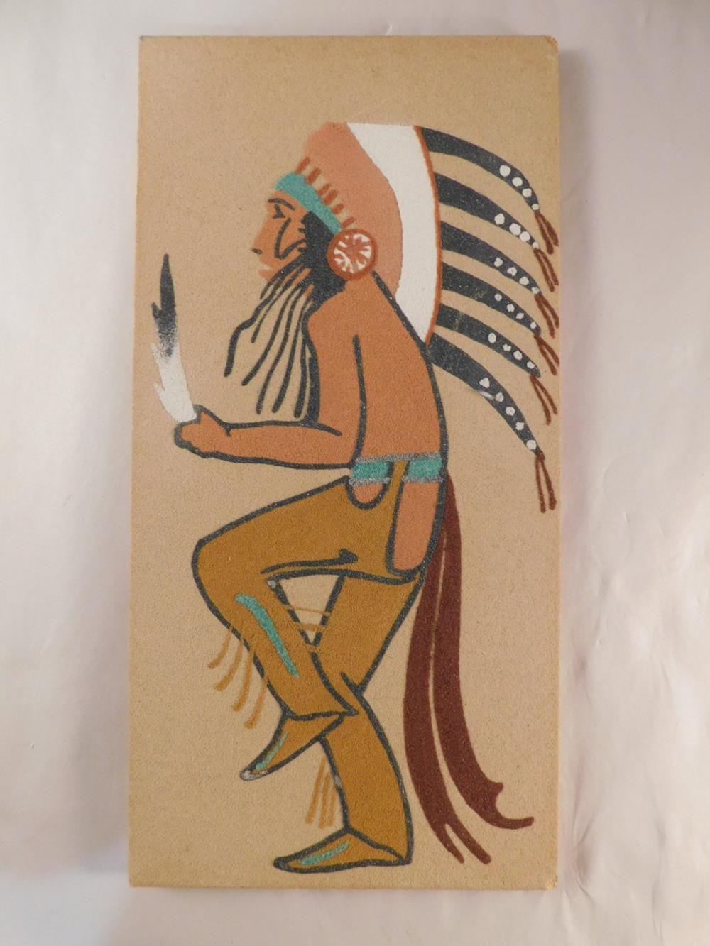 SAND PAINTING NATIVE AMERICAN INDIAN