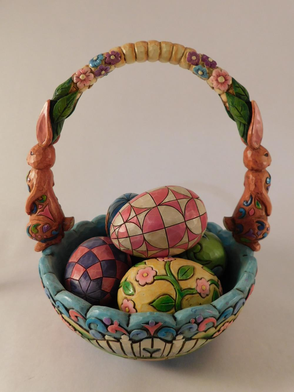 JIM SHORE BASKET EASTER WITH EGGS