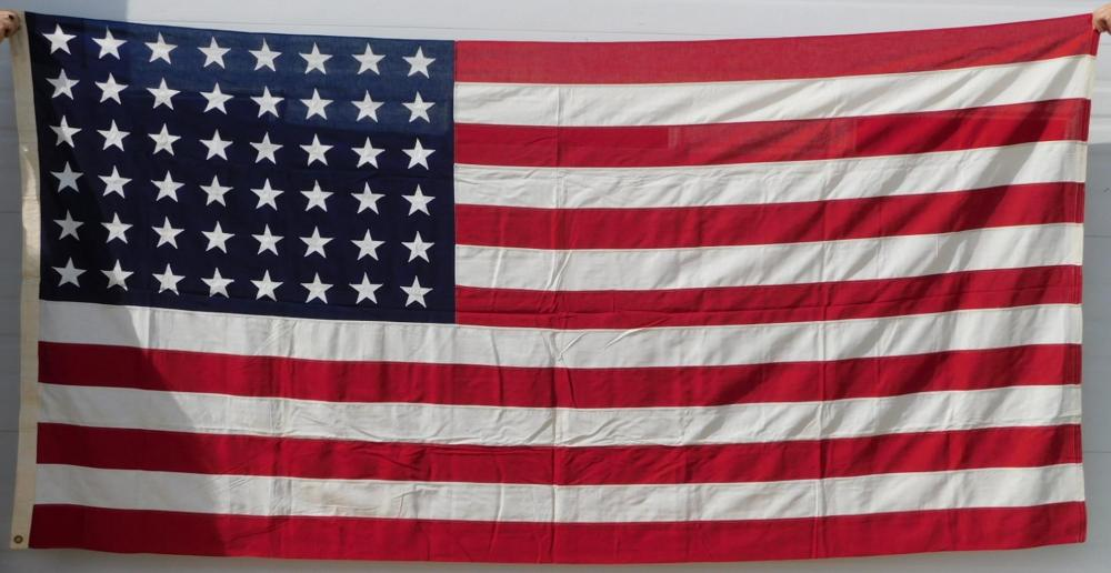 VALLEY FORGE 48 STAR FLAG 5 X 9 ANTIQUES AND COLLECTIBLES