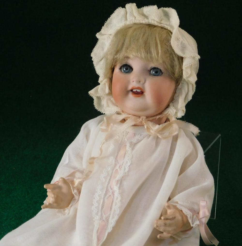 HEUBACH KOPPELSDORF 342 CHARACTER BABY BISQUE DOLL GERMAN GERMANY ANTIQUE VINTAGE