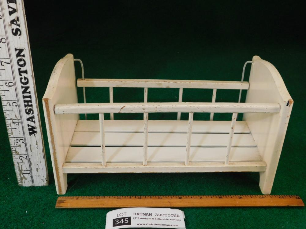 VINTAGE ANTIQUE DOLL CRIB