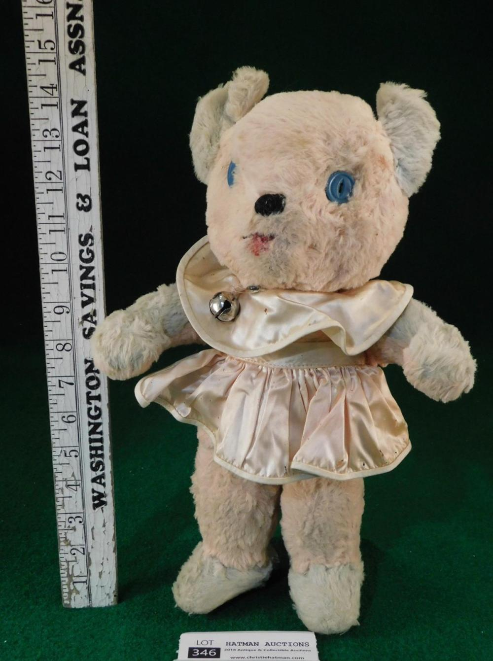 VINTAGE ANTIQUE TOY BEAR KRUGER BEAR WITH BELL