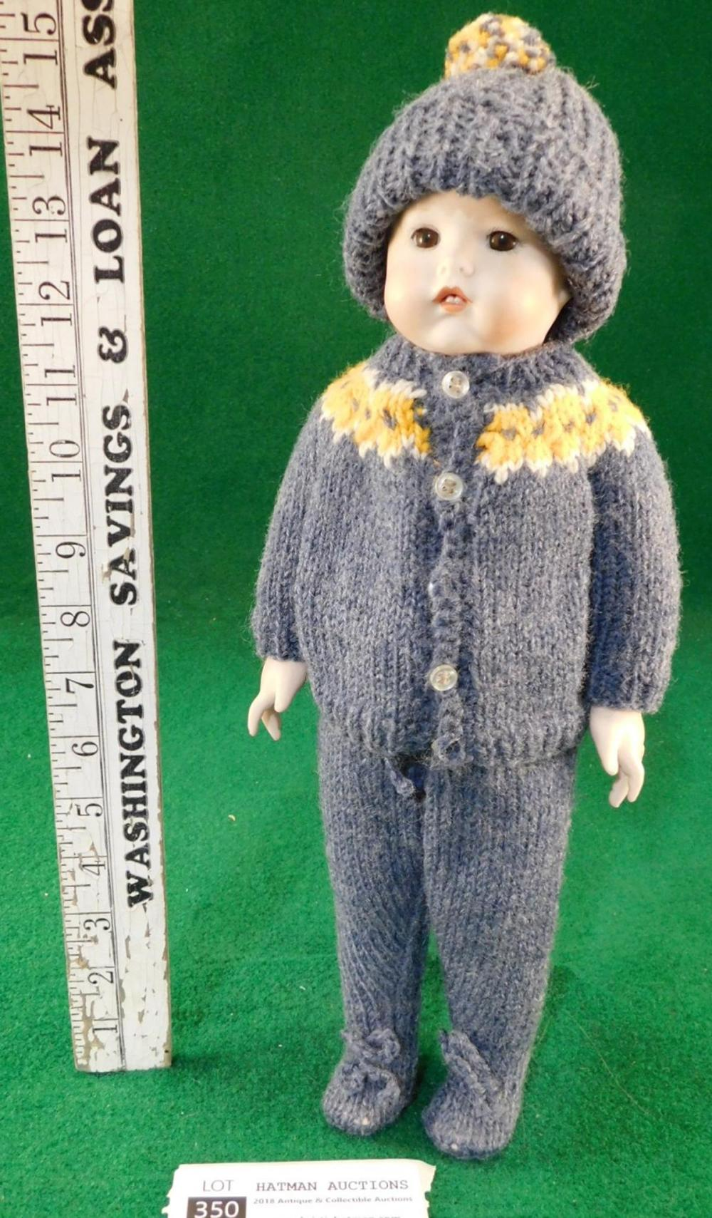 BABY BOKAYA? TOY BOY DOLL BISQUE VINTAGE ANTIQUE