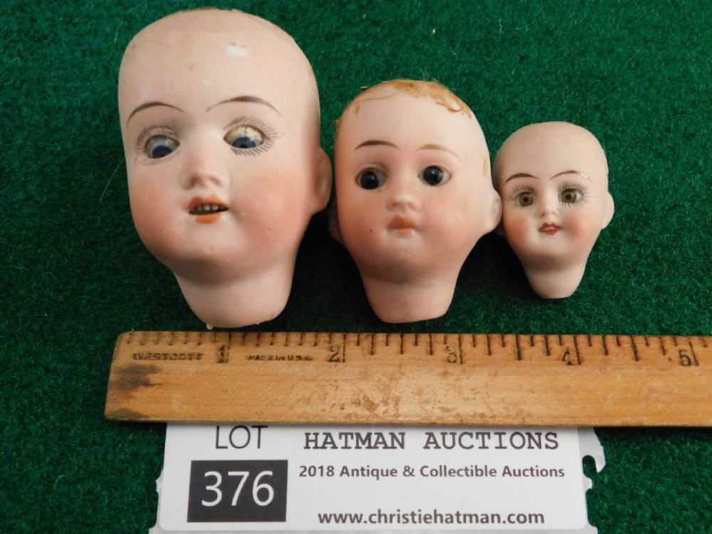 BISQUE DOLL HEADS GERMAN VINTAGE ANTIQUE