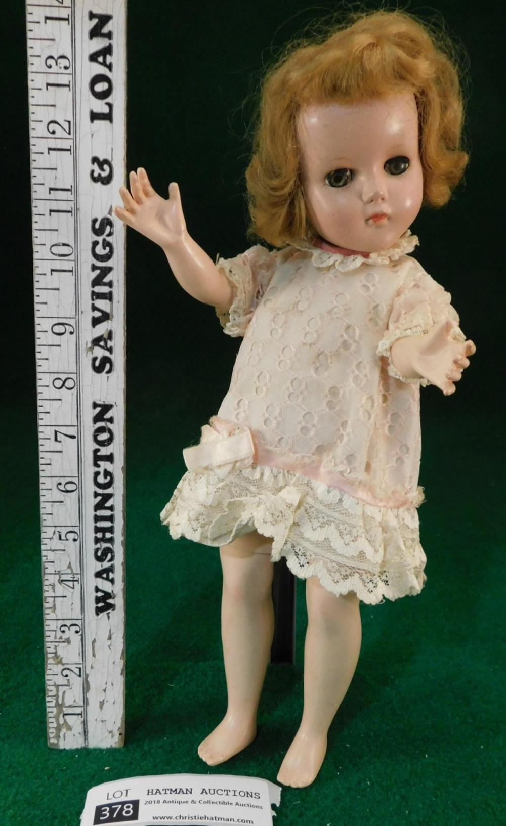 BENT KNEE MADAME ALEXANDER DOLL VINTAGE ANTIQUE