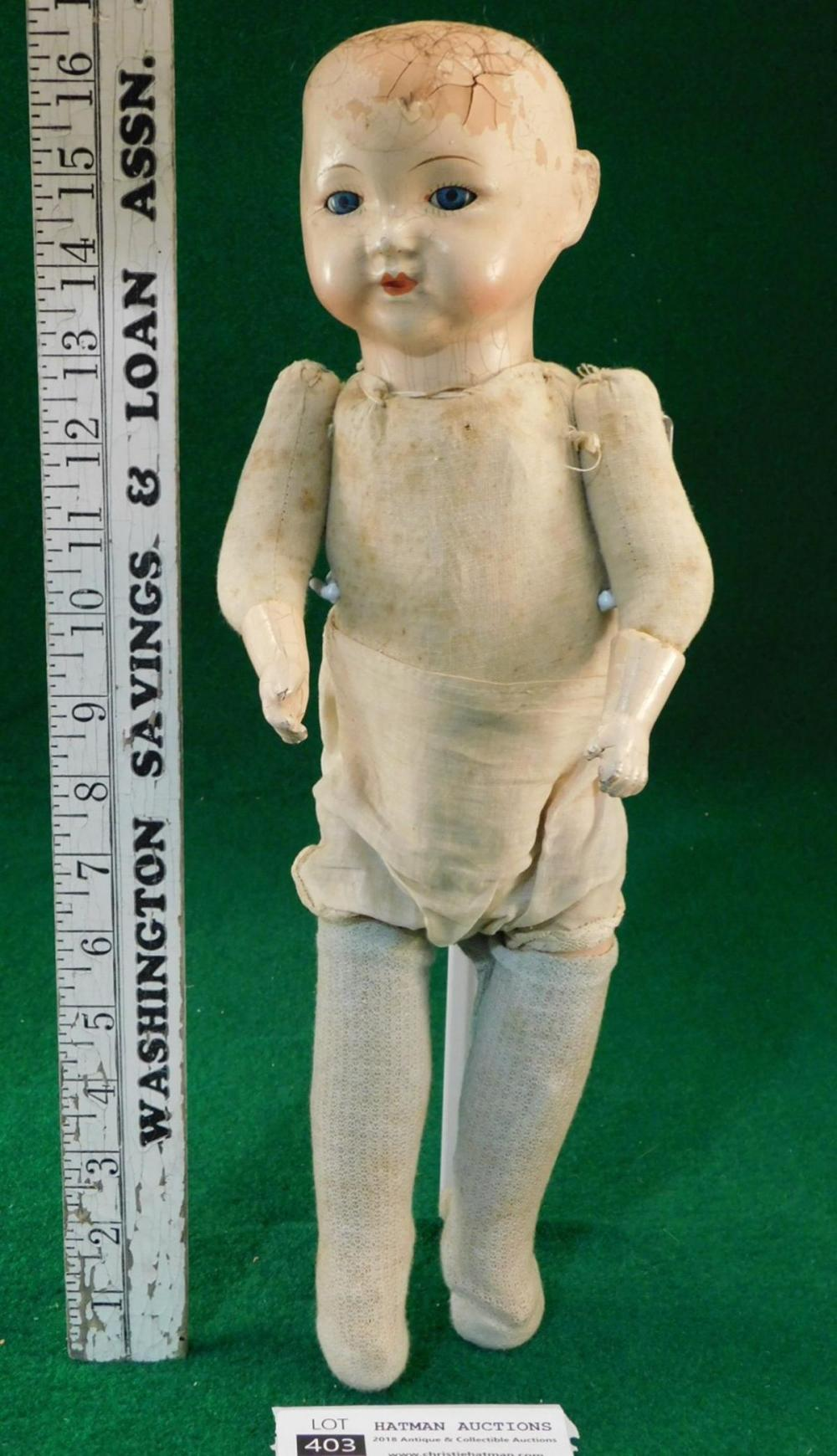 ESTATE VINTAGE ANTIQUE DOLL COLLECTION SEE PHOTO