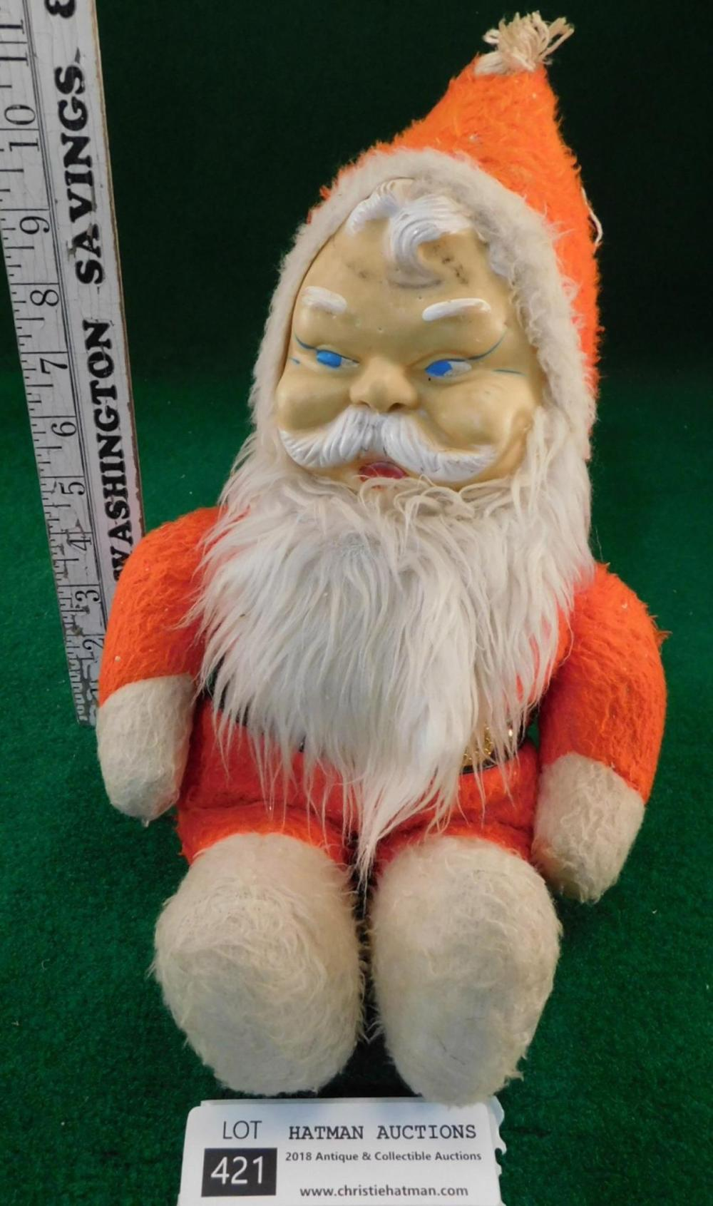 VINTAGE ANTIQUE STUFFED CHRISTMAS SANTA
