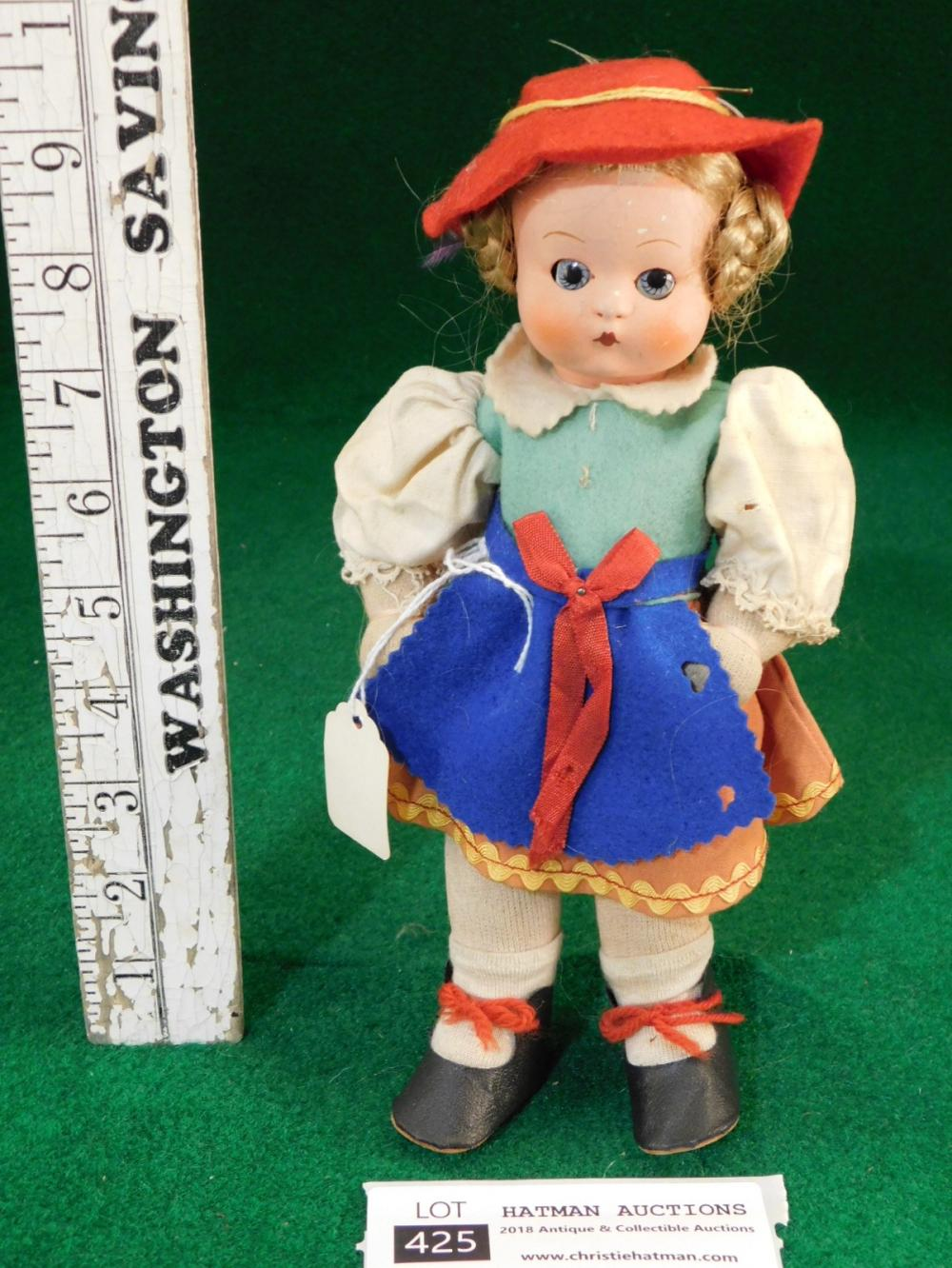 COMPOSITION HEAD CLOTHES ORIGINAL P H W DOLL H P W
