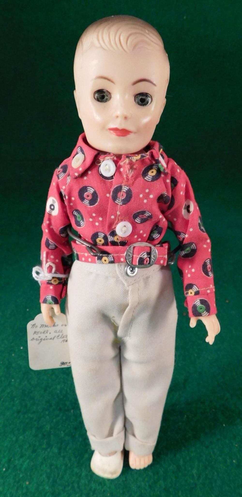 ANTIQUE VINTAGE DOLL NO MARKS ALL ORGINAL CLOTHES (YES, WE SHIP!)