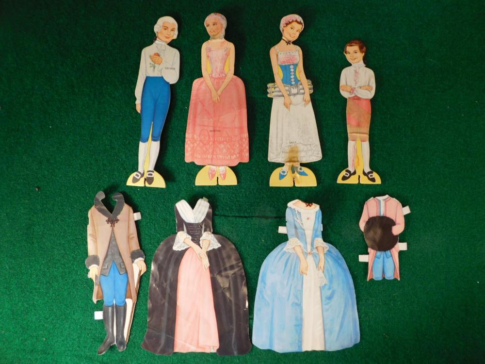 EARLY AMERCIAN DOLLS PAPER DOLLS (YES, WE SHIP!)