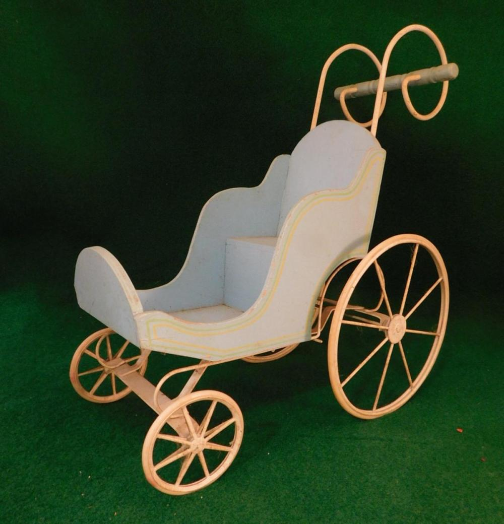 ANTIQUE VINTAGE DOLL STROLLER (YES, WE SHIP!)