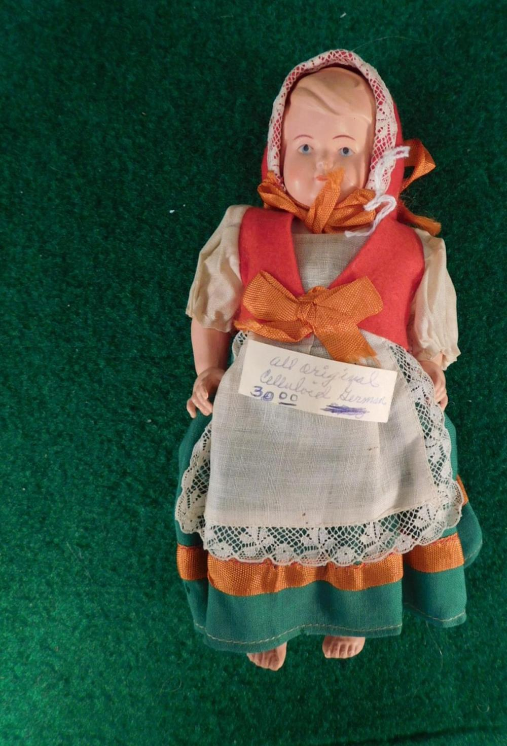 CELLULOID GERMAN ALL ORIGINAL DOLL (YES, WE SHIP!)