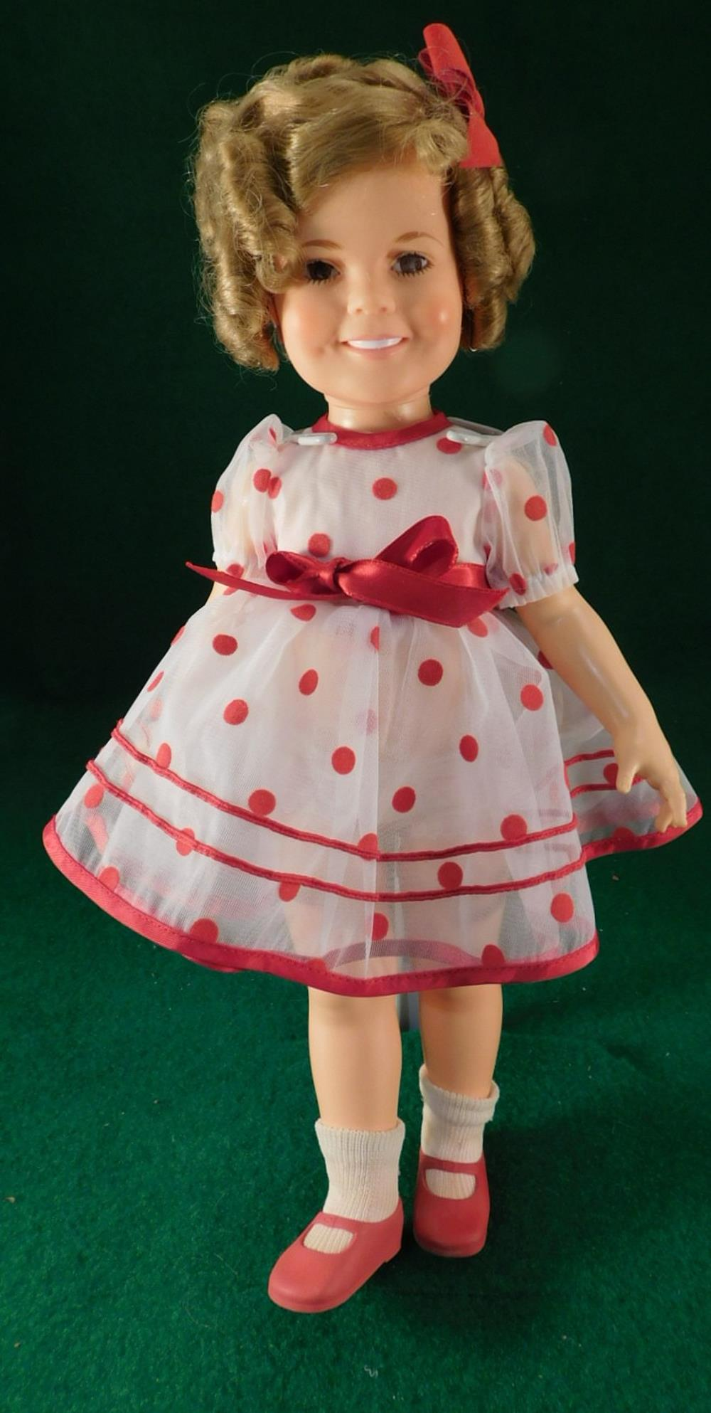 SHIRLEY TEMPLE DOLL VINTAGE ANTIQUE POLKA DOT