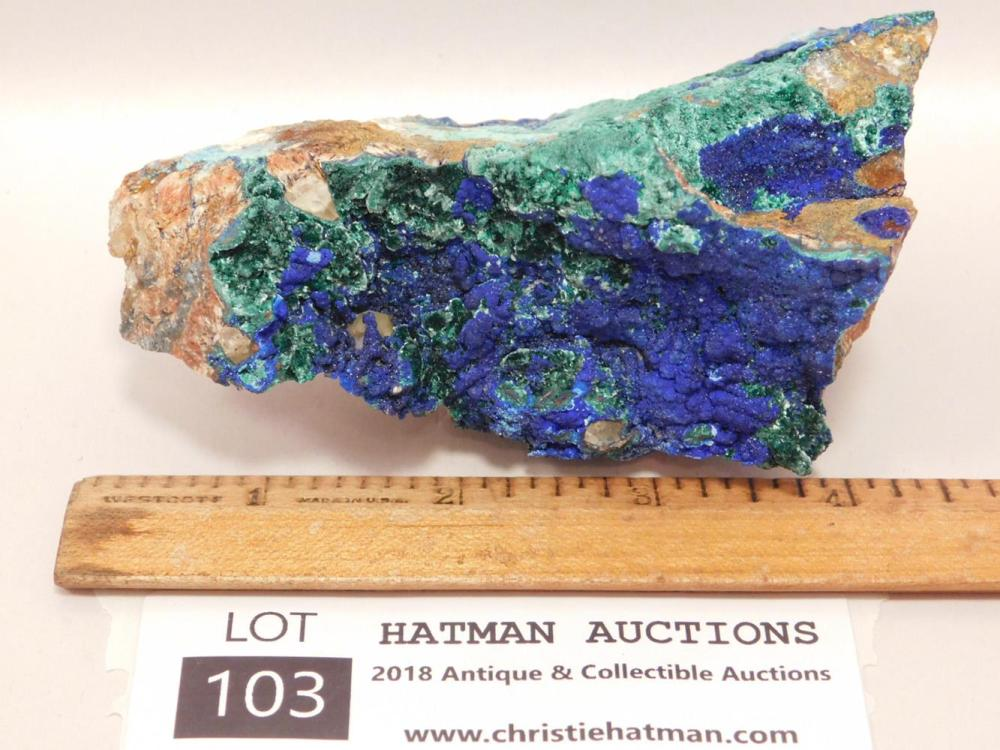MALACHITE AZURITE ROCK STONE LAPIDARY SPECIMEN Many Rock Lots at the end of this auction!