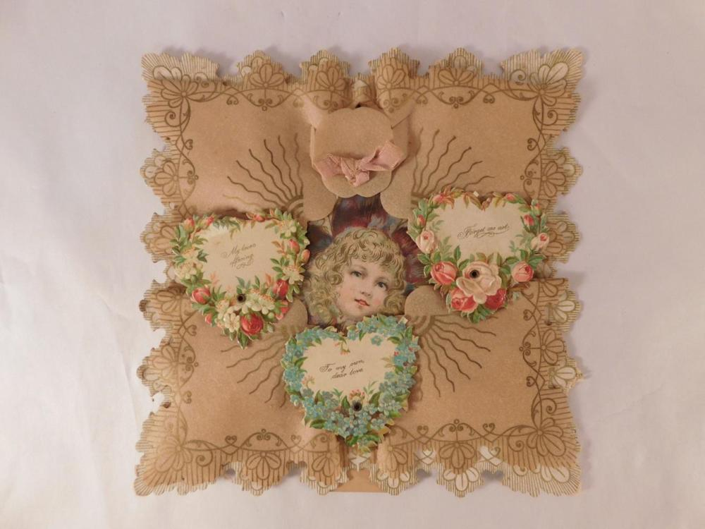 EPHEMERA VALENTINE PAPER ANTIQUE VINTAGE COLLECTIBLE Lots of ephemera in Today's Auction